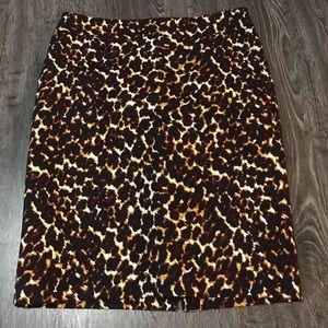 Leopard Print Pencil Skirt *w/ pockets!*